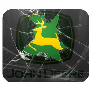john deere broken glass mousepad