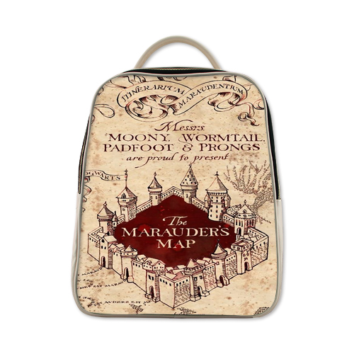 Harry Potter Marauder's map Backpack Antique White