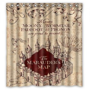 Harry Potter The Marauder's map Shower curtain L