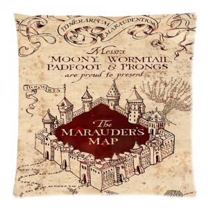 Harry Potter The Marauder's map cushion case