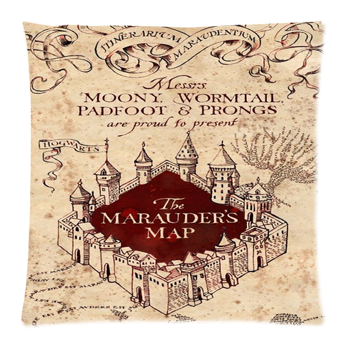 Harry Potter Marauders Map Cushion Case Cover Mycasescovers