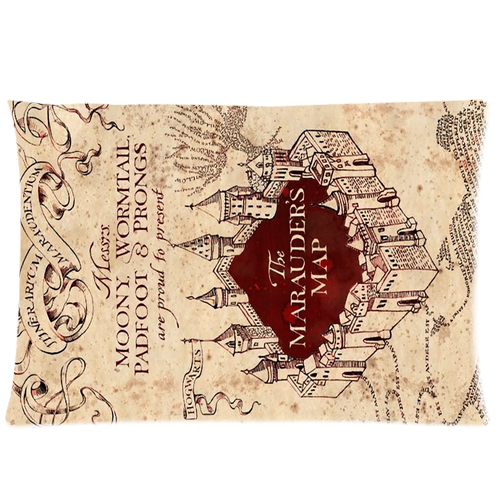 Harry Potter The Marauder's map pillow case