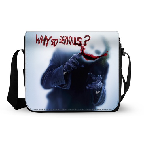 Joker Batman The Dark Knight Why So Serious messenger bag