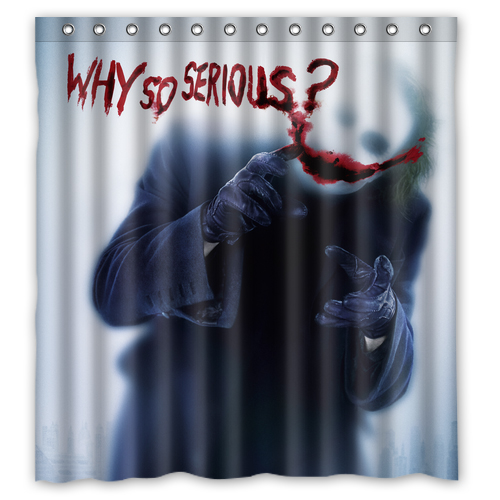 Joker Batman The Dark Knight Why So Serious Shower curtain L