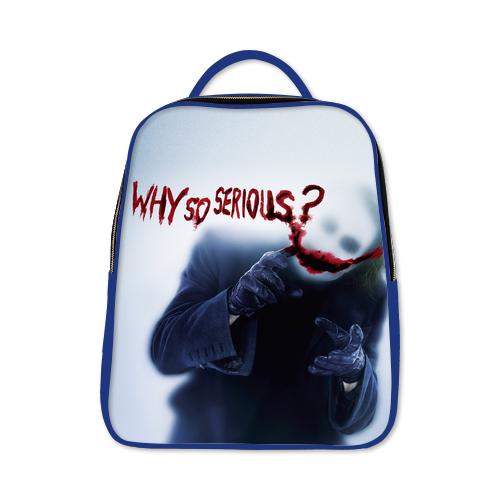Joker Heath Ledger Why So Serious Batman Dark Knight Backpack Blue