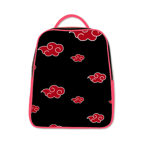 Naruto Akatsuki Clouds Backpack Deep Pink
