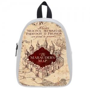 Harry Potter Marauder's map Schoolbag L White