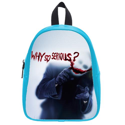 Joker Dark Knight Why So Serious school bag L SkyBlue
