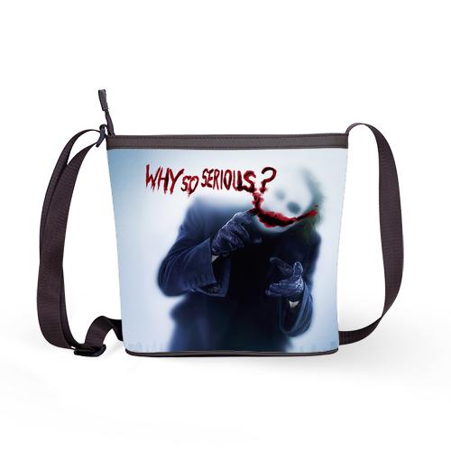 Joker Batman Heath Ledger Why So Serious Shoulder Sling Bag Handbag