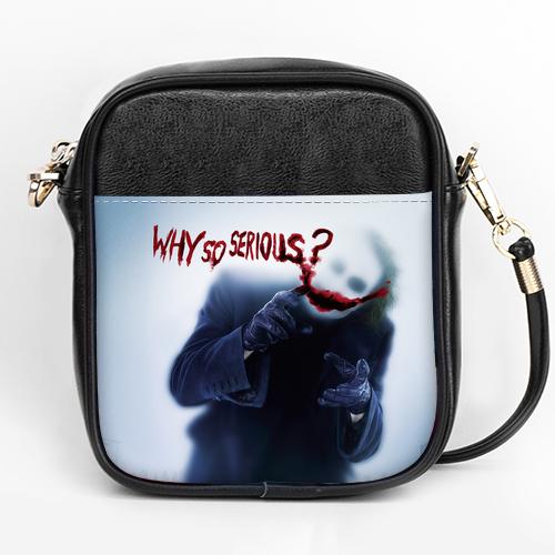 Joker Heath Ledger Why So Serious Batman Dark Knight Girls sling bag Purse