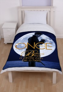 Once Upon A Time Captain Hook ABC's Tv Series Fleece Blanket