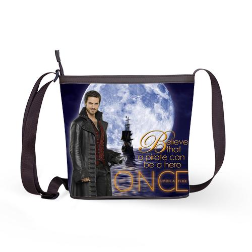 Once Upon A Time Captain Hook ABC's Tv Series Women Handbag Shoulder Sling Bag B