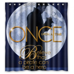 Once Upon A Time Captain Hook ABC's Tv Series Shower Curtain B L