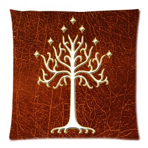 Lord Of The Rings White Tree Of Gondor LOTR Cushion Case