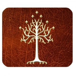 Lord Of The Rings White Tree Of Gondor LOTR Mousepad