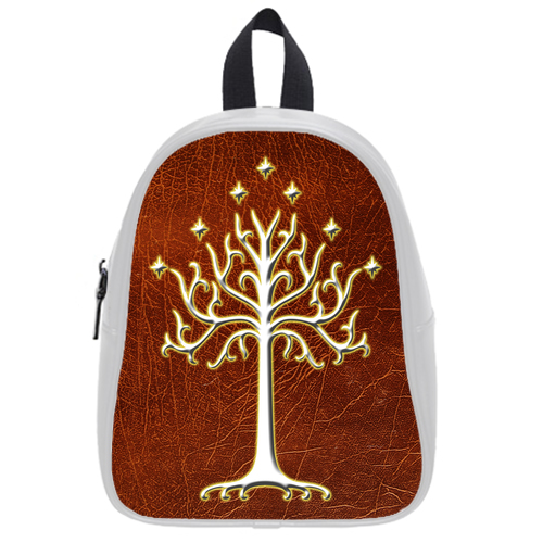 Lord Of The Rings White Tree Of Gondor LOTR School Bag L White
