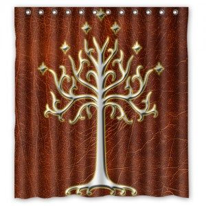 Lord Of The Rings White Tree Of Gondor LOTR Shower Curtain L