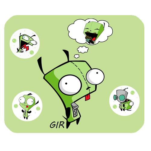 Invader Zim GIR mousepad Design A