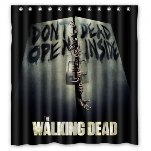 The Walking Dead Shower Curtain A Large
