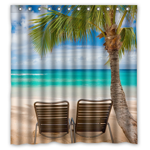 beach shower curtain L