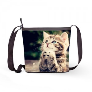 cute kitten women sling bag handbag