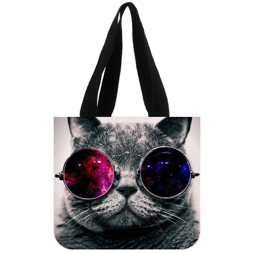 Hipster Sunglasses Cat Tote bag