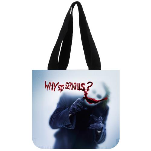 Joker Why So Serious Batman Dark Knight Tote Bag