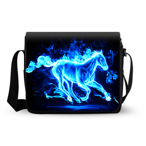 glowing horse messenger bag